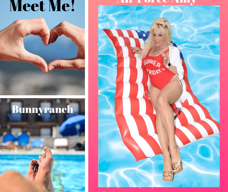 Free Pool Party Add On with Air Force Amy @Bunnyranch All Summer Long!