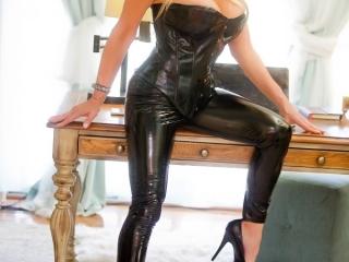 Amy in Sexy Black Full Body Latex